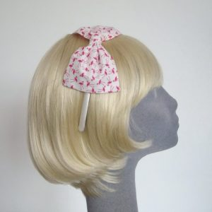 Pink Flamingo Bow Headband side