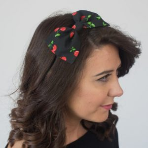 Black Cherry Bow Headband