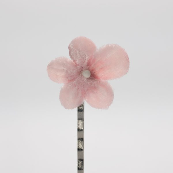 Pale Pink Blossom Flower Hair Clips