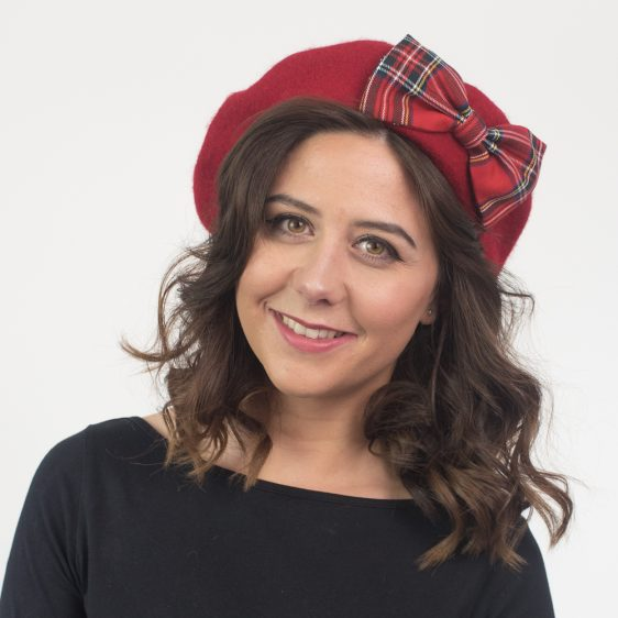 Red Beret Red Tartan Bow