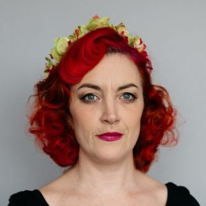 Green Orchid Flower Crown Headband