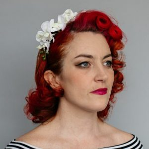 Ivory Orchid Flower Crown Headband