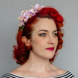 Lilac Orchid Flower Crown Headband
