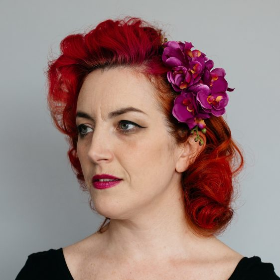 Magenta Orchid Spray Hair Comb