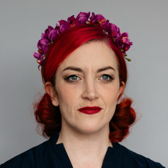 Magenta Orchid Flower Crown Headband