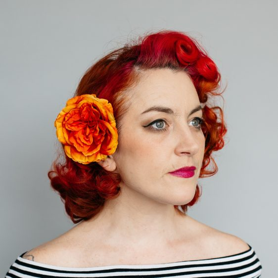 Orange Rose Hair Clip