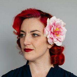 Pink Rugosa Rose Hair Clip
