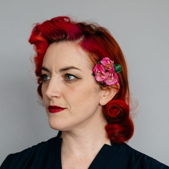 Pink Rose Posy Hair Clip