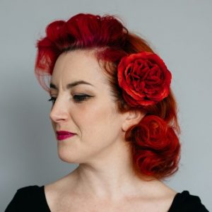 Red Rose Hair Clip
