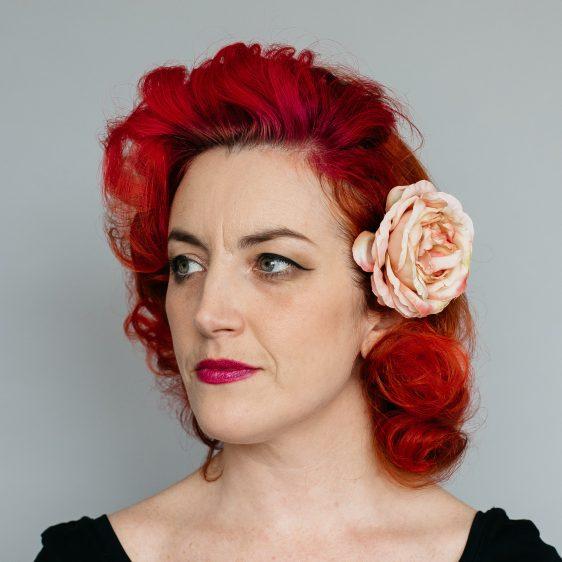 Vintage Peach Rose Hair Clip