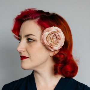 Vintage Pink Rose Hair Clip