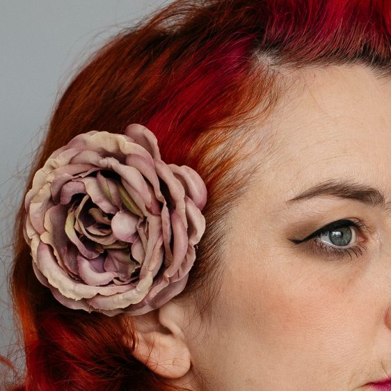 Vintage Plum Rose Hair Clip