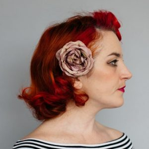 Vintage Plum Rose Hair Clip