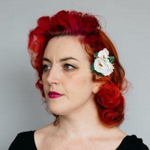 White Rose Posy Hair Clip