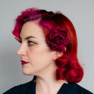 Red Velvet Rose Hair Clip