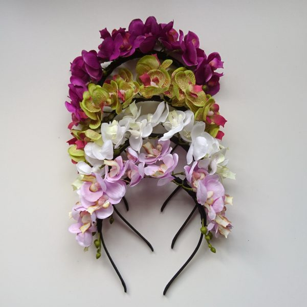 Orchid Flower Crown Headbands
