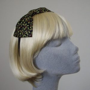 Black Christmas Holly Hair Bow
