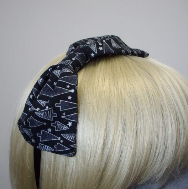 Black Christmas Tree Party Headband