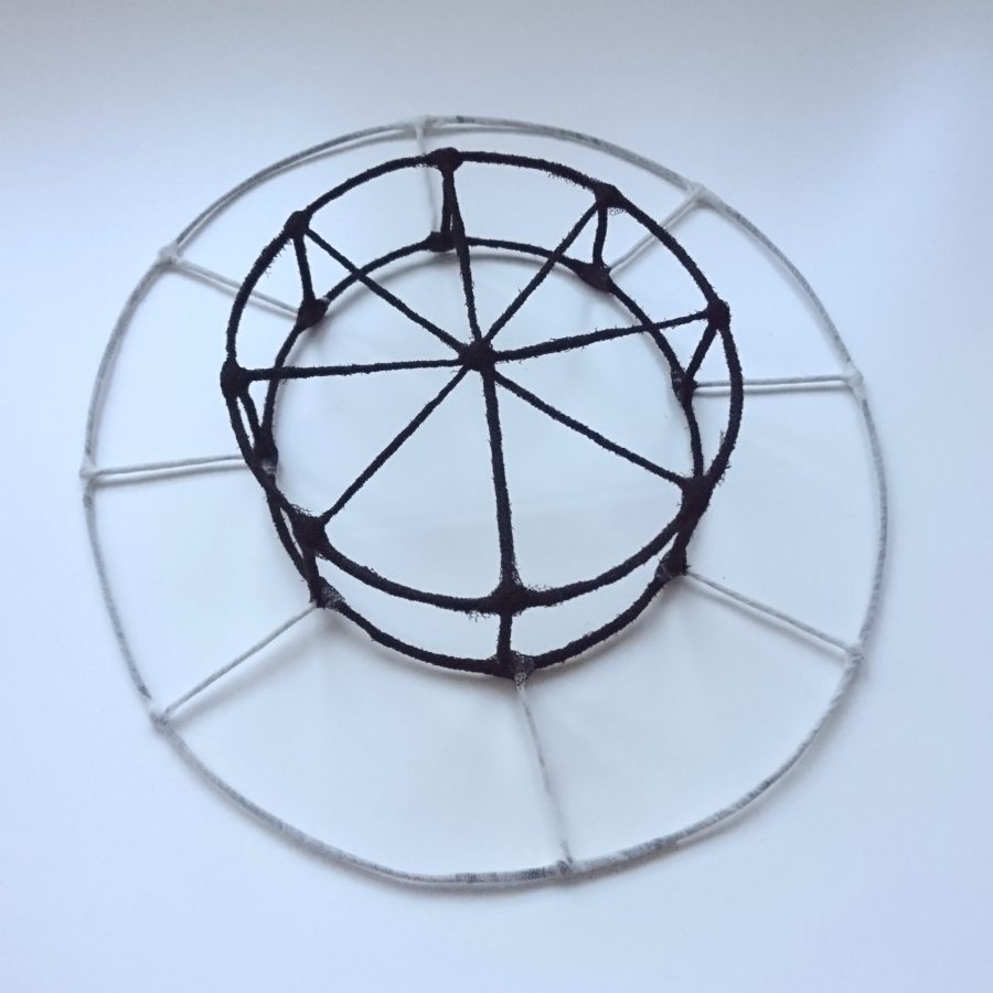 boater hat wire frame