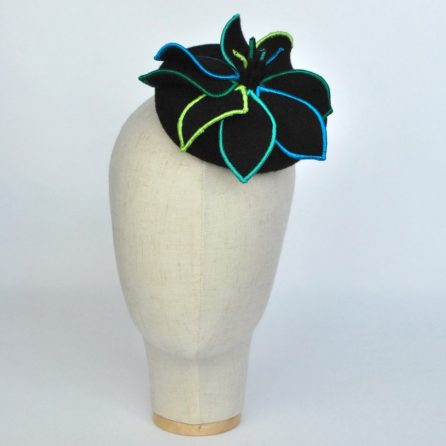 ImogensImagination - Felt Mini Button with Embroidered Flower - front