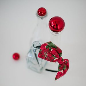 Red Christmas Poinsettia Bow Headband
