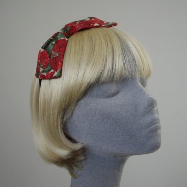Red Christmas Bow Headband