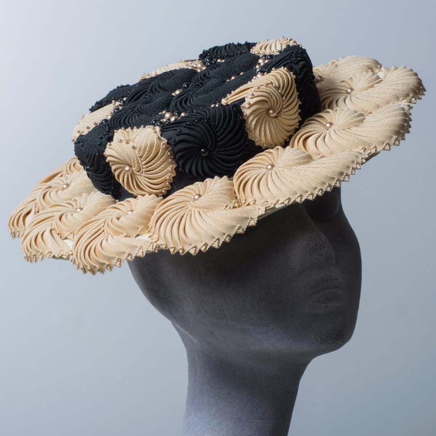 Black and Cream Nautilus Hat by Imogen's Imagination