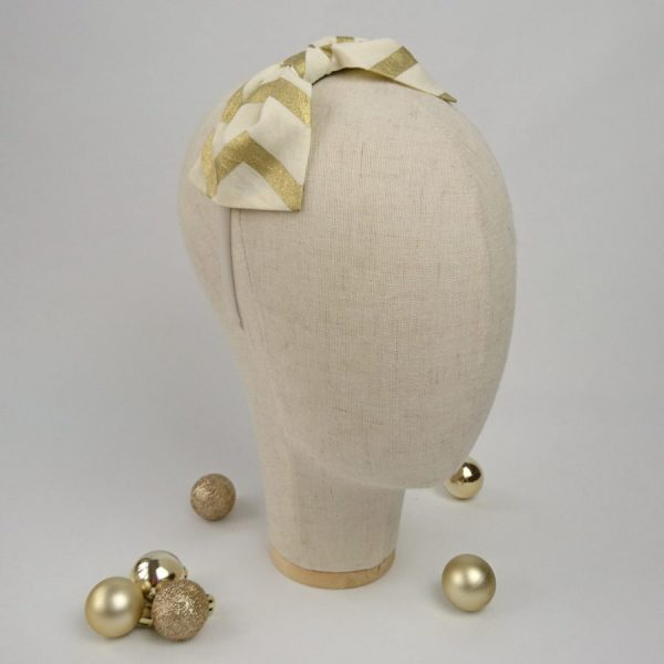 Gold party hair bow