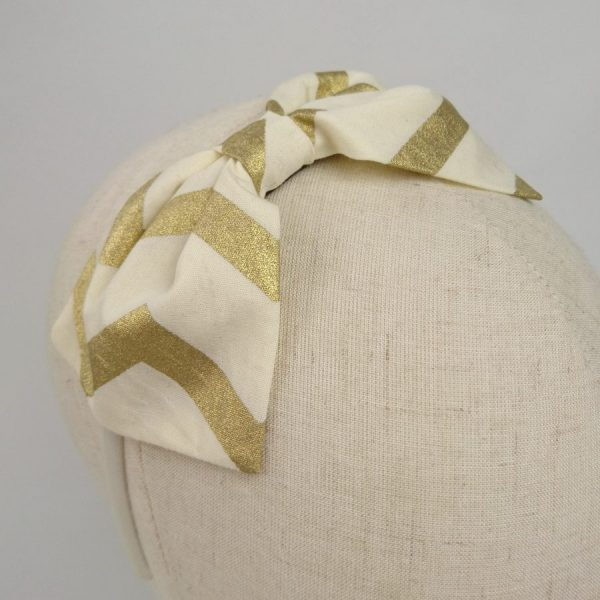 Gold Christmas party hair bow