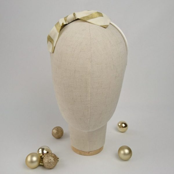 Gold Christmas hair accessory