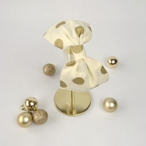 Gold Polka Dot Christmas Bow Headband