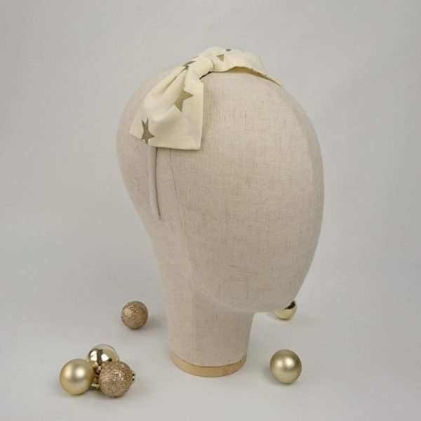 Gold Star Christmas Hair Accessory