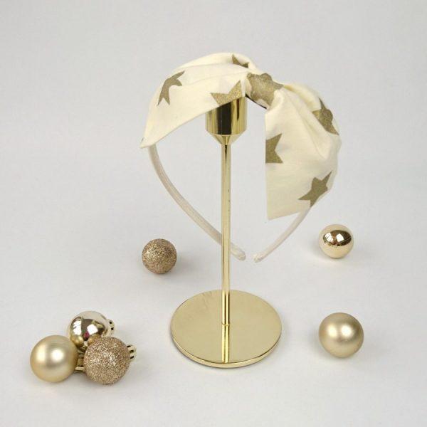 Gold Star Christmas Women's Headband