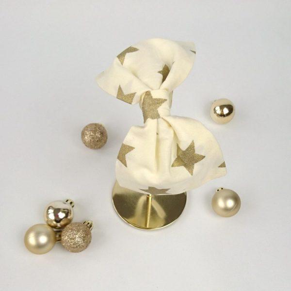 Gold Star Christmas Bow Headband