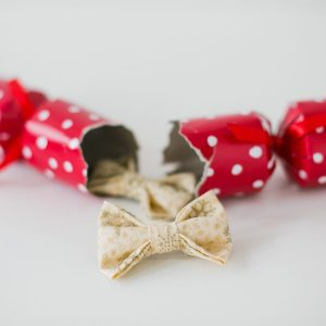 Cream Christmas Snowflake Bow Hair Clip