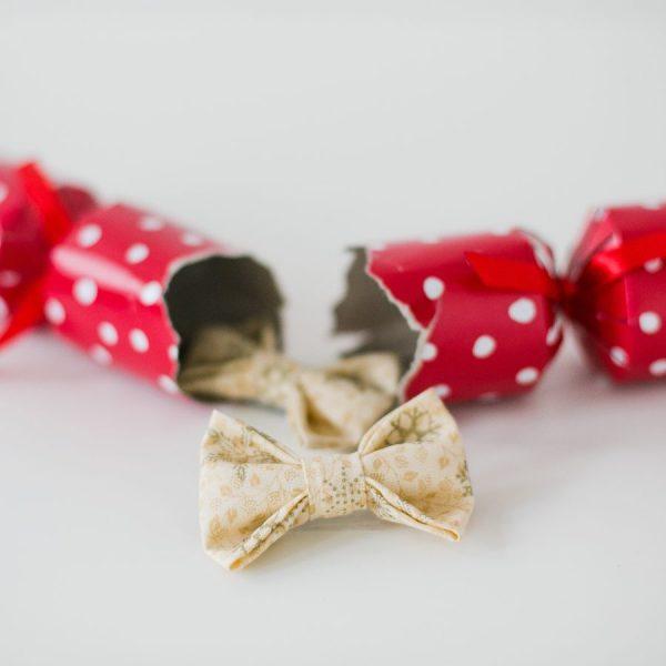 Cream Christmas Snowflake Bow Hair Clip