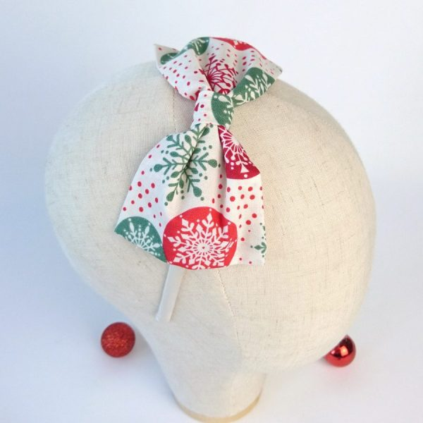 Red Green Christmas Party Bow Headband