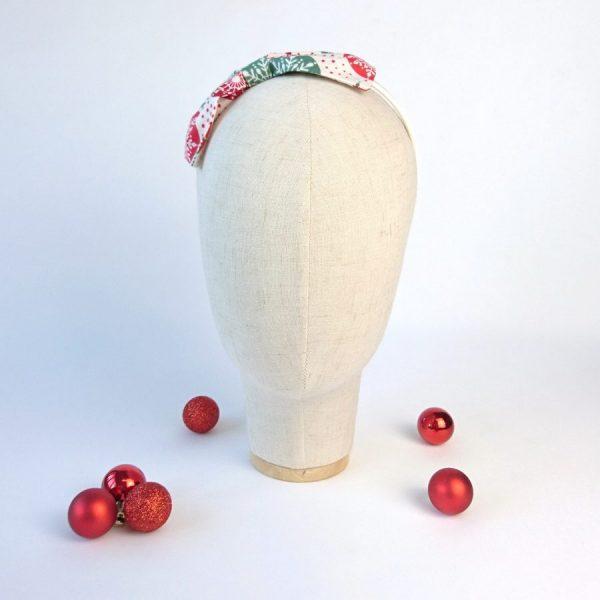 Red Green Christmas Girls Bow Headband