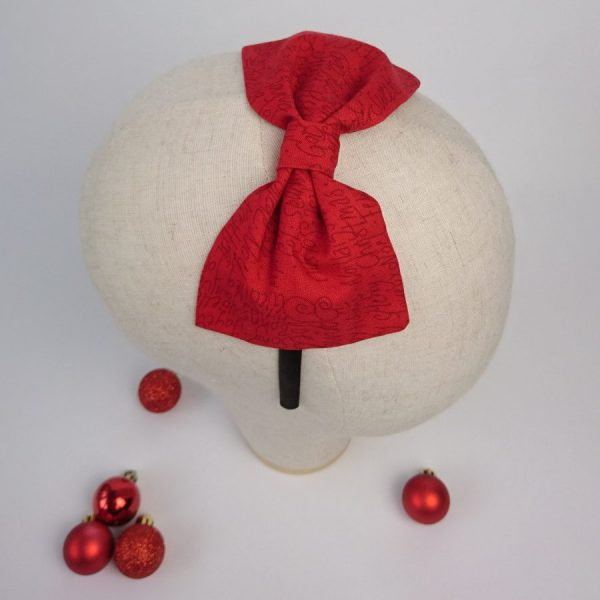 Red Christmas Party Bow Headband