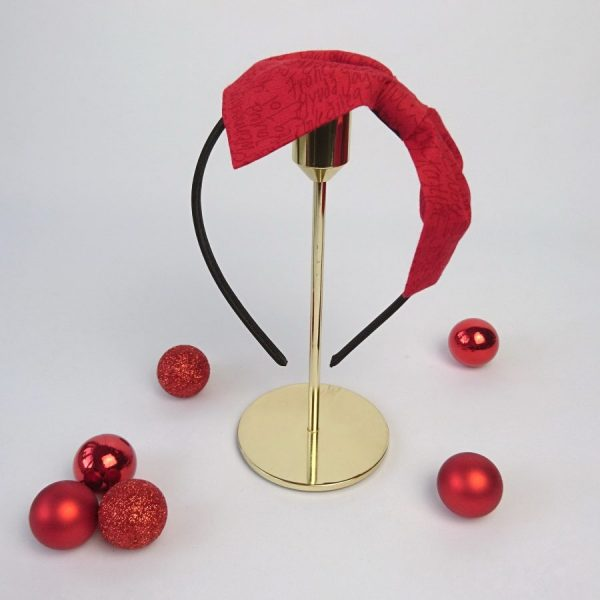 Red Christmas Womens Headband