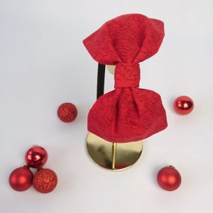 Red Christmas Greetings Bow Headband
