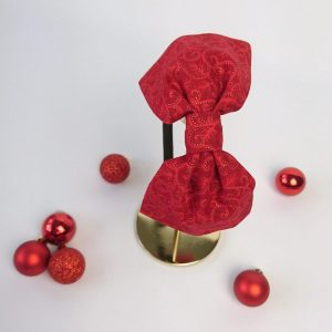 Red Christmas Swirl Bow Headband