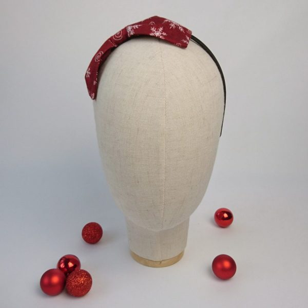 Wine Red Christmas Party Bow Headband
