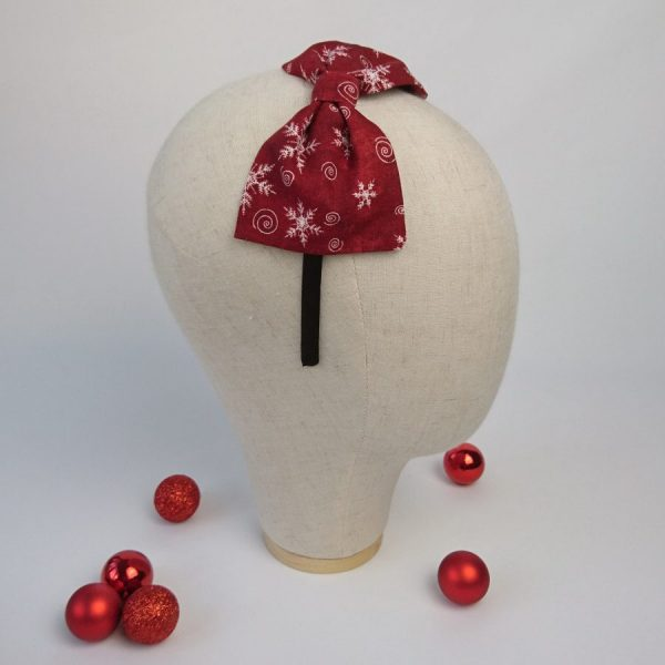 Wine Red Christmas Hair Accessory