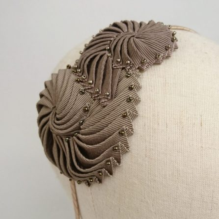 Bronze Nautilus Headband - angle detail