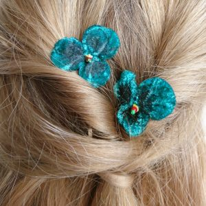 Spring flower hair accessories for women and girls