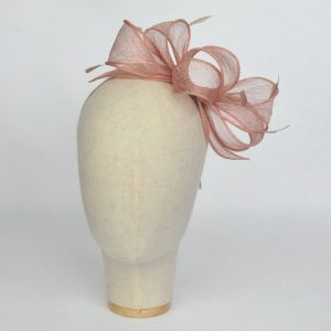 Latte Loop Fascinator with Coque Feathers