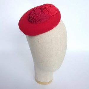 Red hat for spring wedding guests