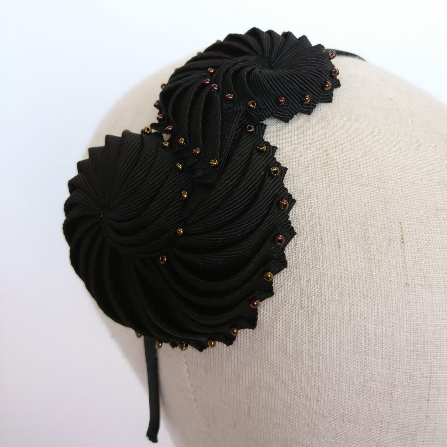 Black and Bronze Nautilus Headband