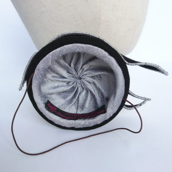 Millinery technique Lining a small percher hat